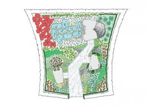 Christophe Naudier - Architecte Paysagiste - Aix en Provence - PLAN PROJET - Concours festival des jardins de Chaumont-sur-Loire - Création jardin