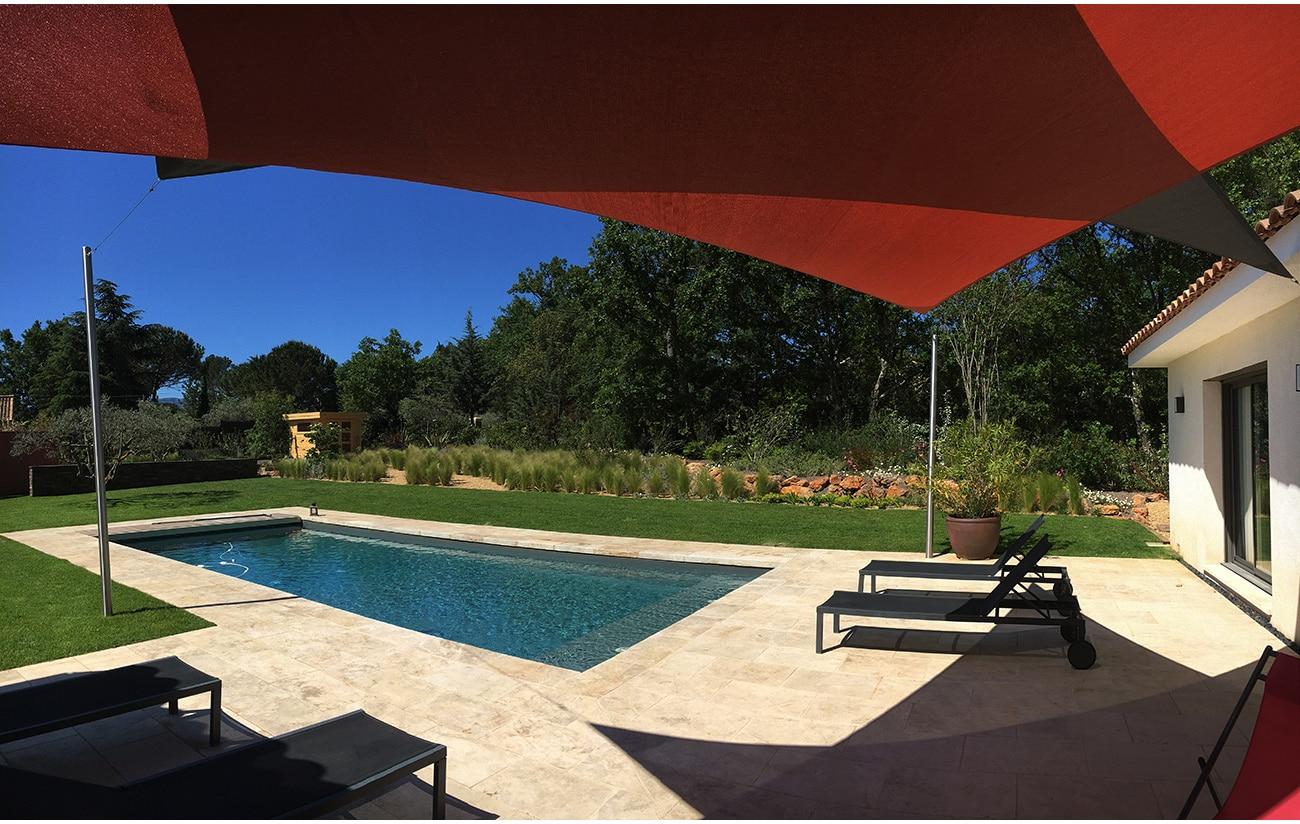 Atelier Naudier - Architecte paysagiste concepteur - Montpellier & Aix en Provence - Jardin naturel contemporain - PISCINE - aménagement jardin - FRANCE 3 IN SiTU