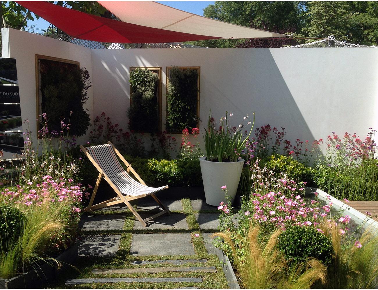 Tableau végétal et espace détente zen - Architecte paysagiste concepteur Montpellier