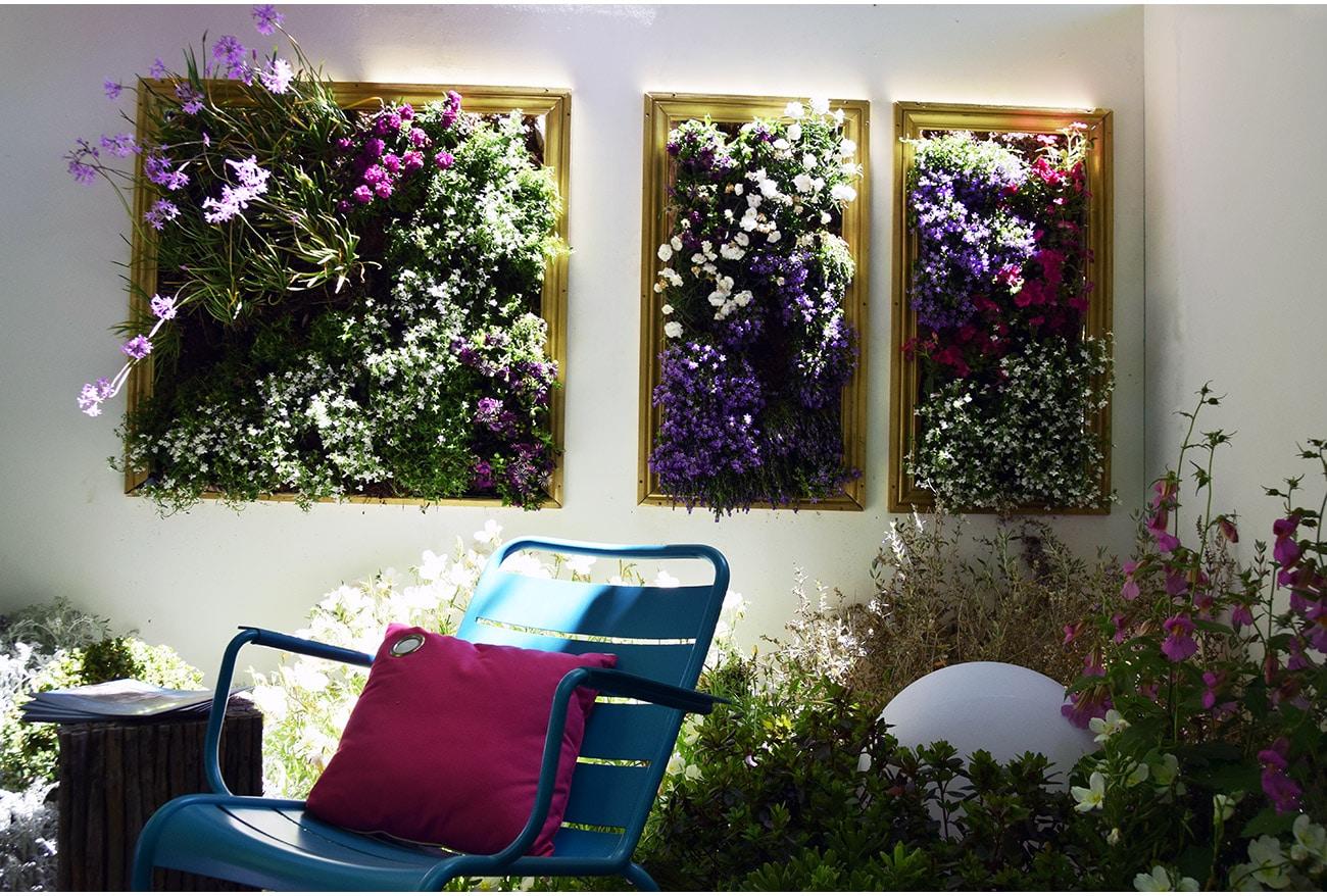 Tableau végétal fleuri - Architecte paysagiste concepteur Montpellier