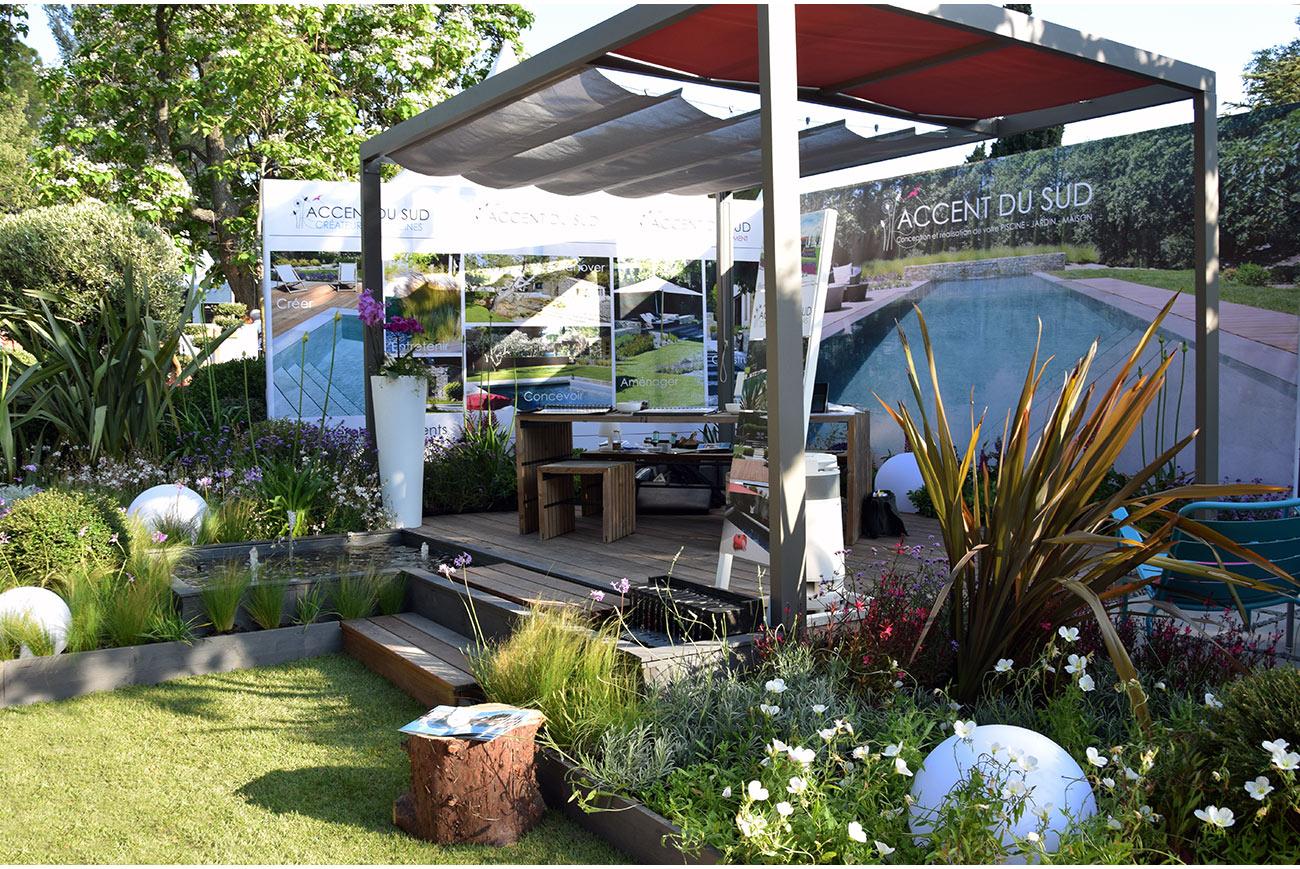 Atelier Naudier - Architecte paysagiste concepteur - Montpellier & Aix en Provence - Salon COTE SUD - Jardin éphémère 6 - aménagement jardin