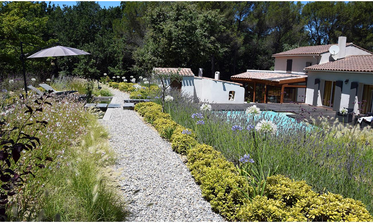 Jardin méditerrannéen graphique - Architecte paysagiste concepteur Montpellier