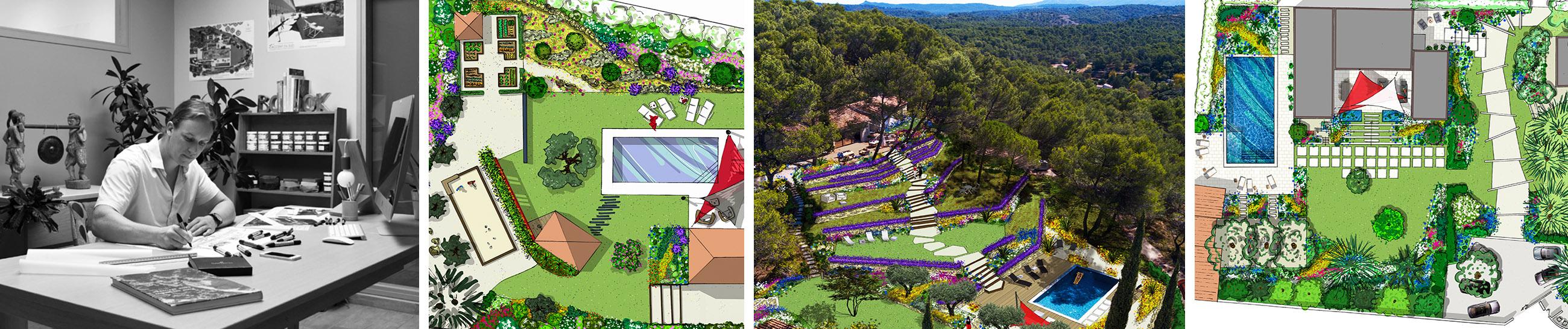 Prestations - Architecte paysagiste concepteur - Atelier Naudier - Montpellier & Aix en Provence - aménagement jardin