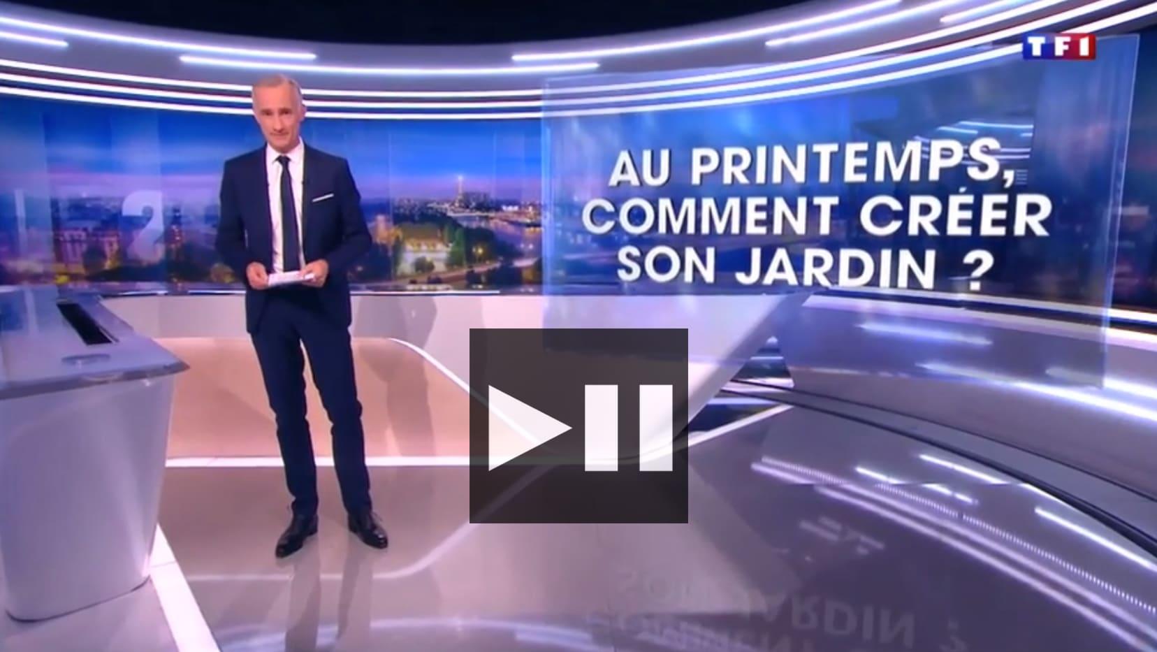 Reportage journal 20h de TF1 du 28_03_17 - Architecte paysagiste concepteur - Atelier Naudier - Montpellier & Aix en Provence - aménagement jardin