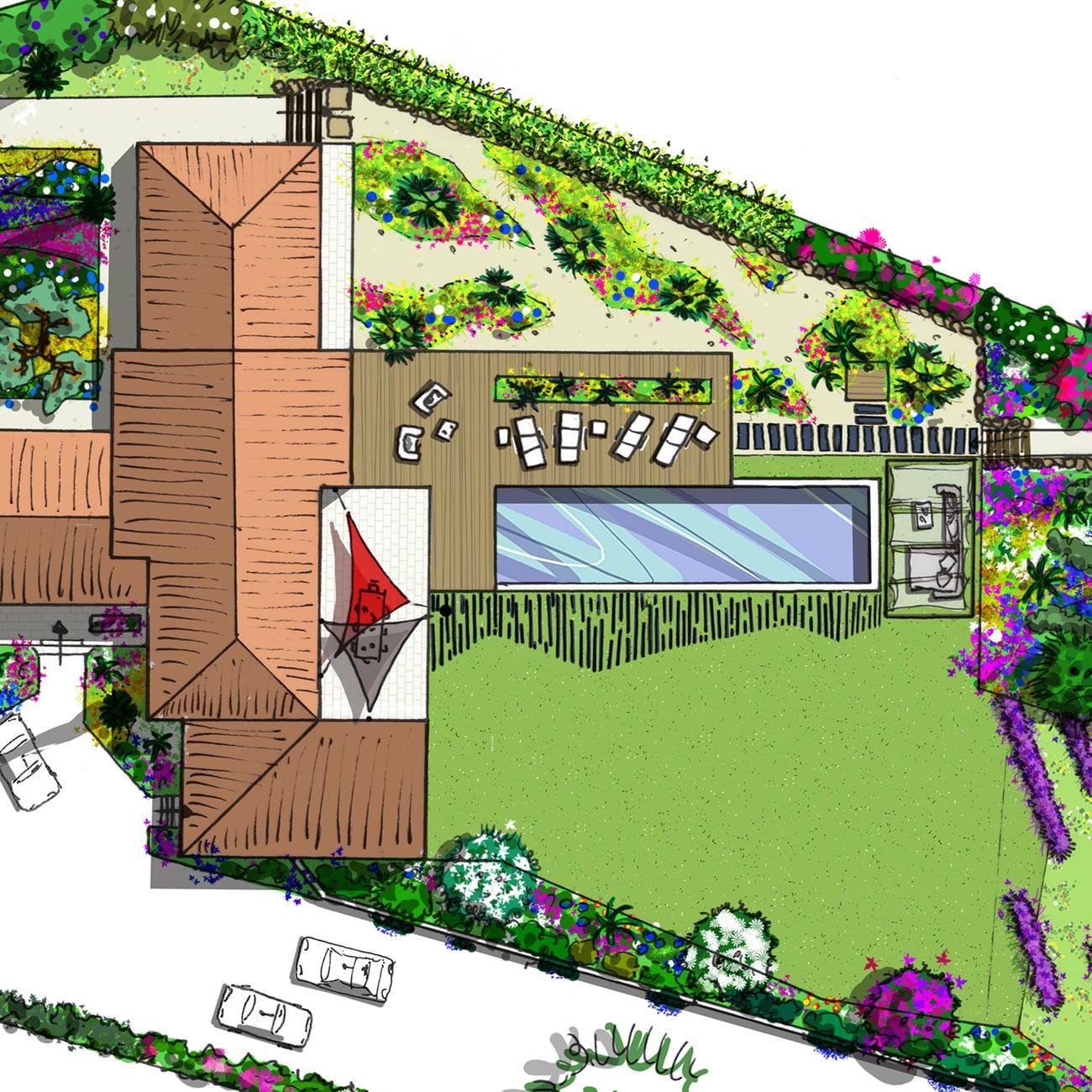 Atelier Naudier - Architecte paysagiste concepteur - Montpellier & Aix en Provence -Projet Aix en Provence 1 - aménagement jardin