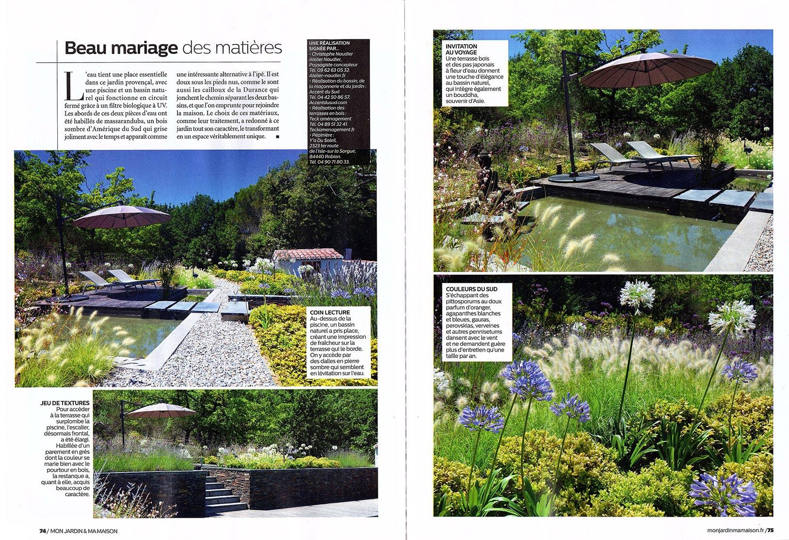 Atelier Naudier - Architecte paysagiste concepteur - Montpellier & Aix-en-Provence - Mon jardin & ma maison - Page 1 - aménagement jardin