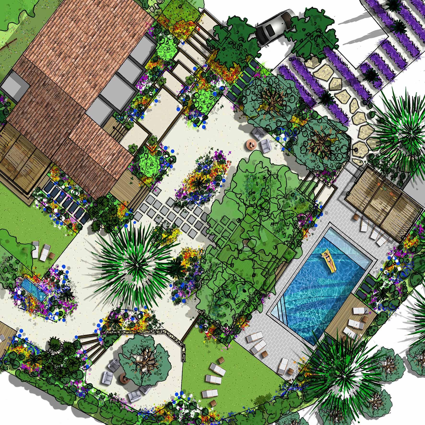 Atelier Naudier - Architecte paysagiste concepteur - Montpellier & Aix en Provence - Jardin méditerranéen - aménagement jardin