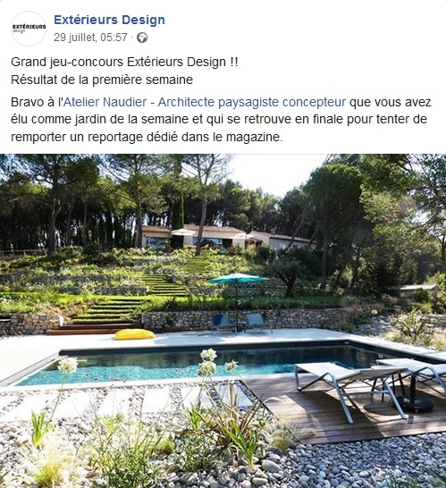 Atelier Naudier - Architecte paysagiste concepteur - Montpellier & Aix-en-Provence - Concours Extérieurs Design Magazine - aménagement jardin