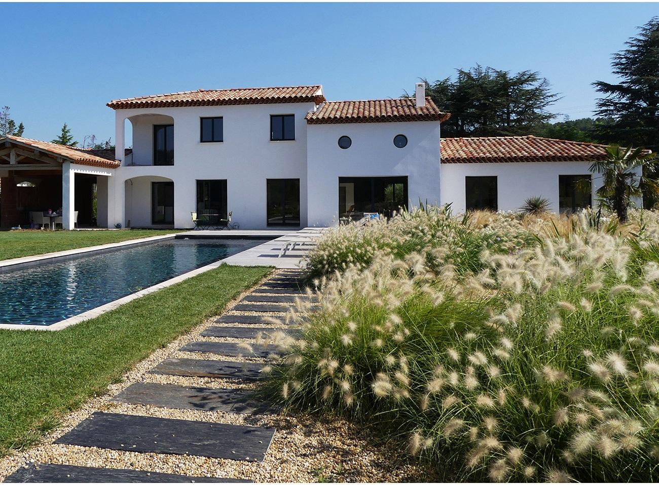 Atelier Naudier - Architecte paysagiste concepteur - Montpellier & Aix-en-Provence - JARDIN MÉDITERRANÉEN FLEURI - Aménagement jardin