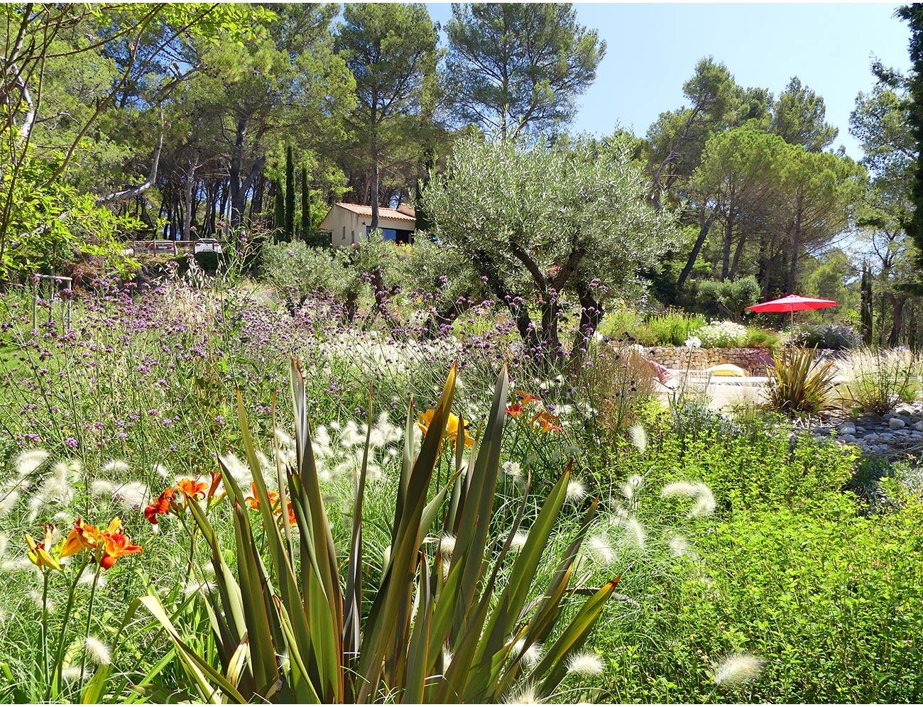 Atelier Naudier - Architecte paysagiste concepteur - Montpellier et Aix en Provence - Jardin méditerranéen fleuri et naturel - aménagement jardin