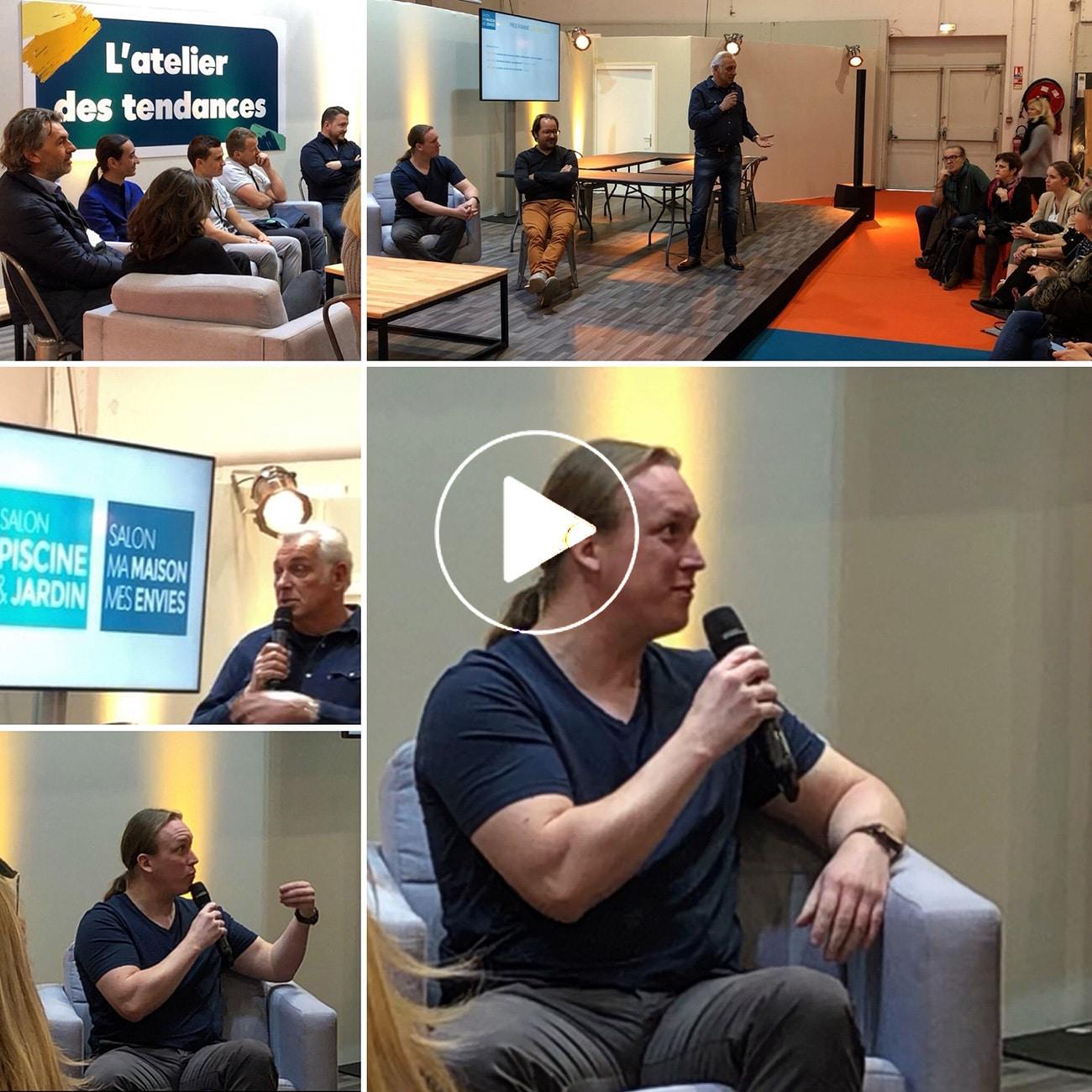 Atelier Naudier - interview Stéphane Thebaut - Maison france 5 - Salon Piscine et Jardin - Architecte Paysagiste Montpellier et Aix en Provence