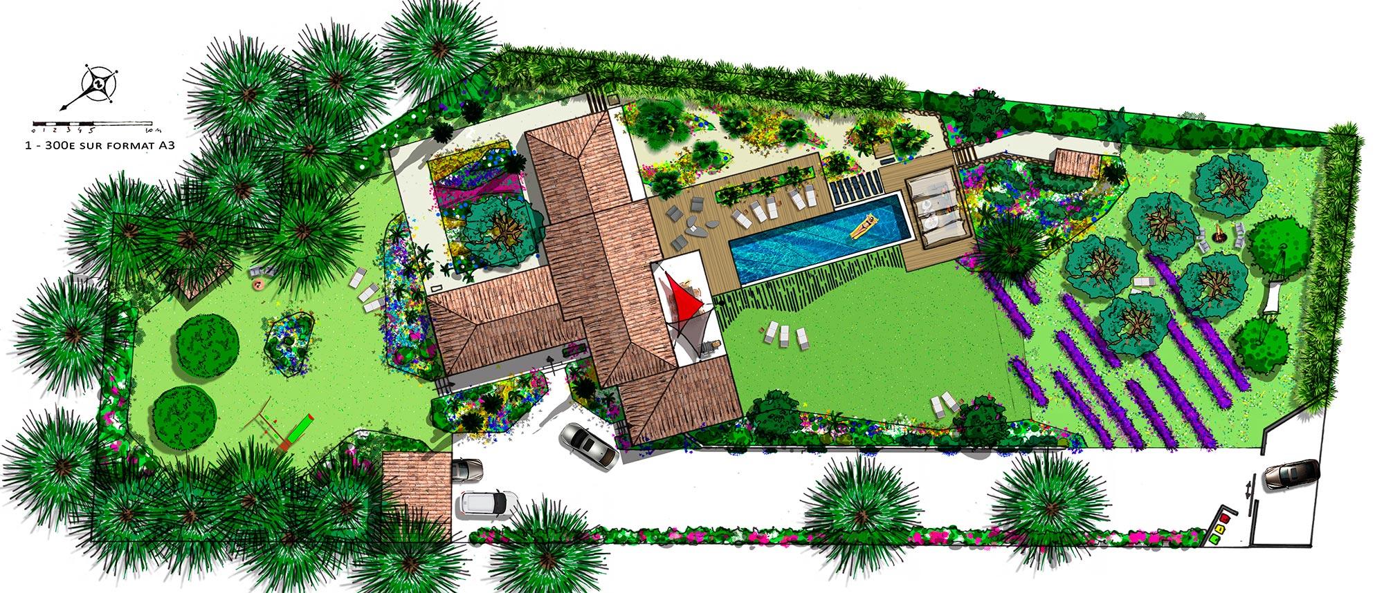 Atelier Naudier - Architecte paysagiste concepteur - Montpellier & Aix en Provence - Projet Aix en Provence - aménagement jardin