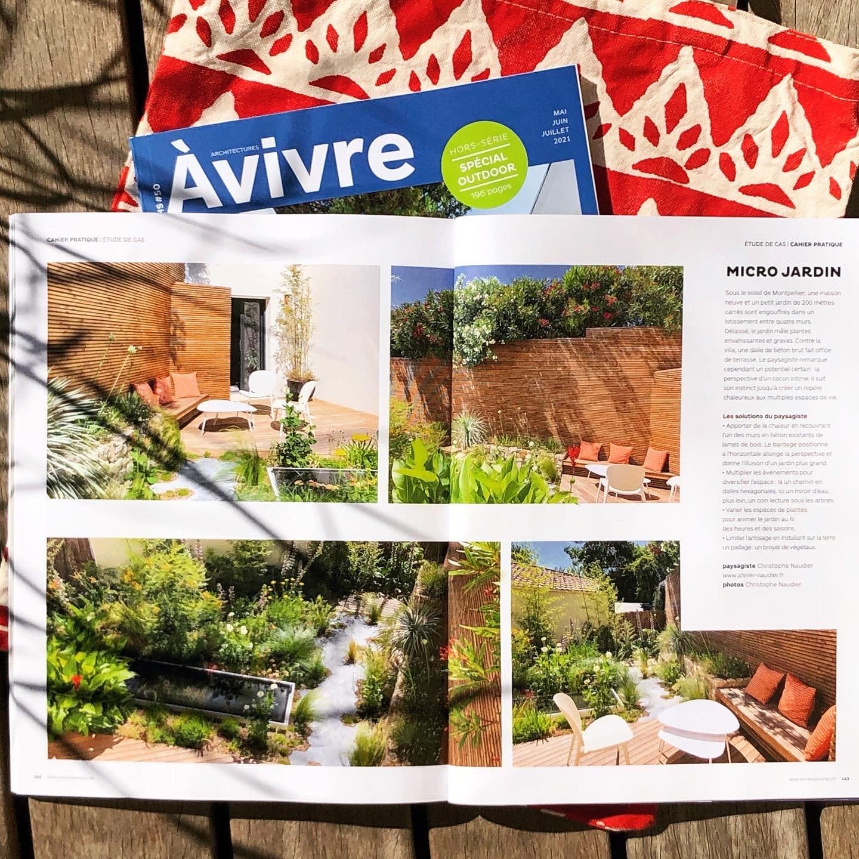 Atelier Naudier - Architecte Paysagiste connu - Articles et reportages magazine Architectures à vivre - 1 - Spécial Outdoor
