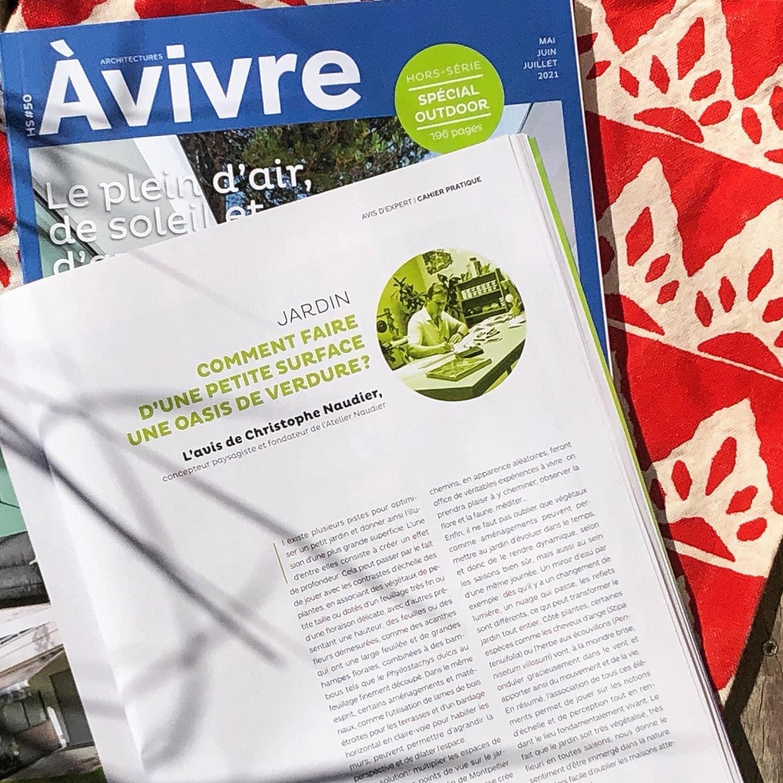 telier Naudier - Architecte Paysagiste connu - Articles et reportages magazine Architectures à vivre - 2 - Spécial Outdoor
