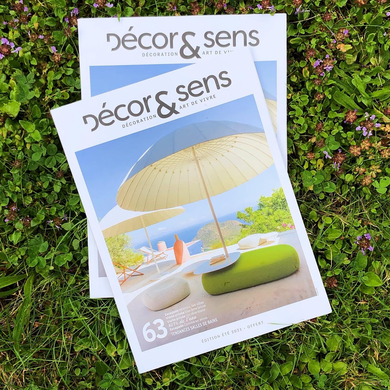 Atelier Naudier - Articles et reportages magazine Décor & Sens 63 - Architecte Paysagiste Concepteur star - Montpellier et Aix-en-Provence